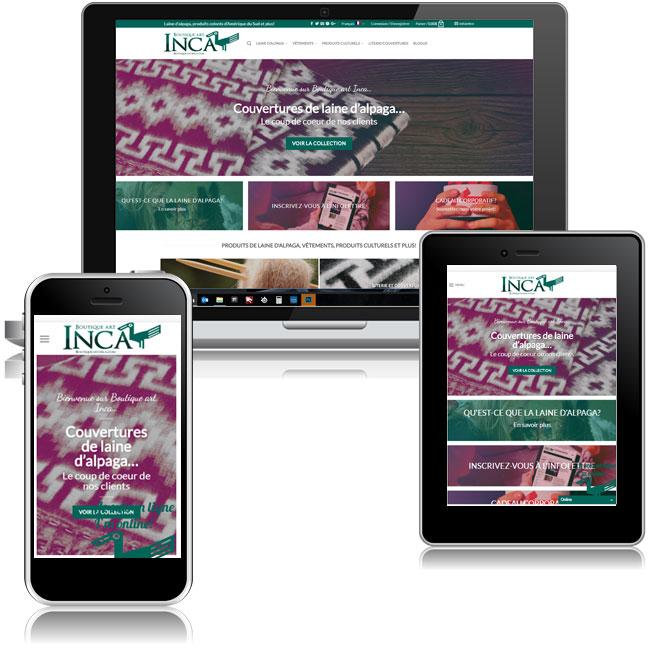 Site Web Boutique Art Inca