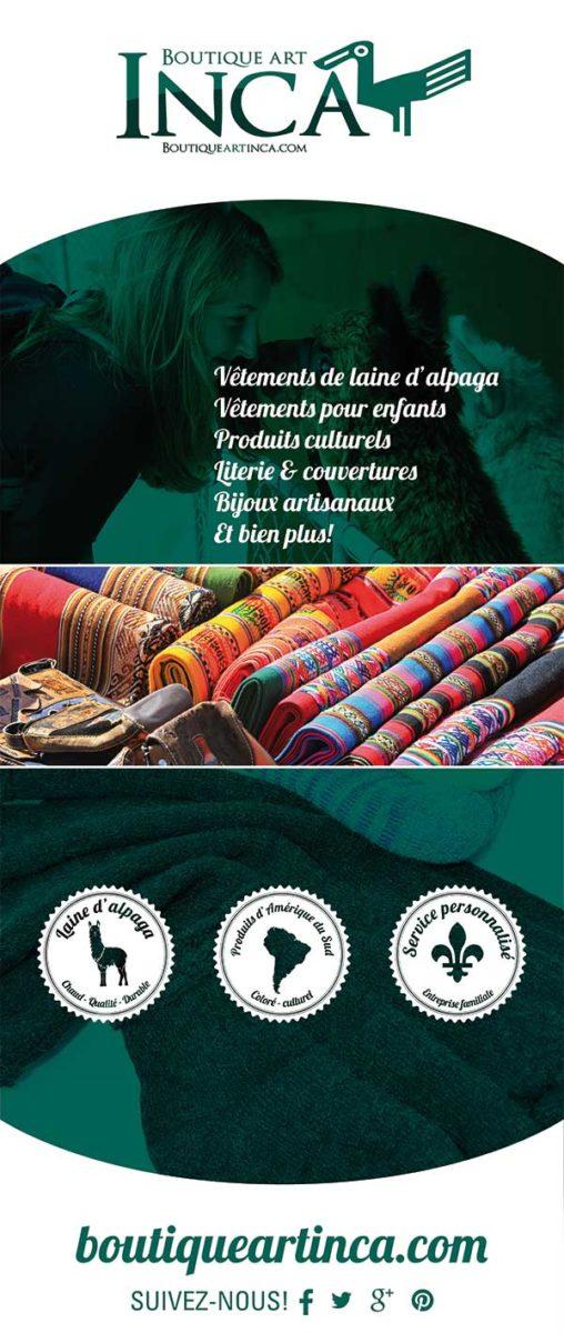 Affiche - Boutique art Inca