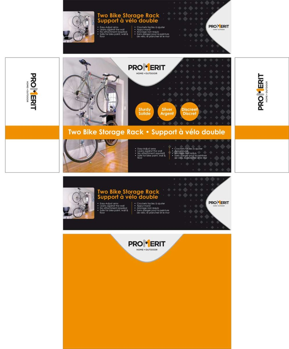 Boîte support à vélo